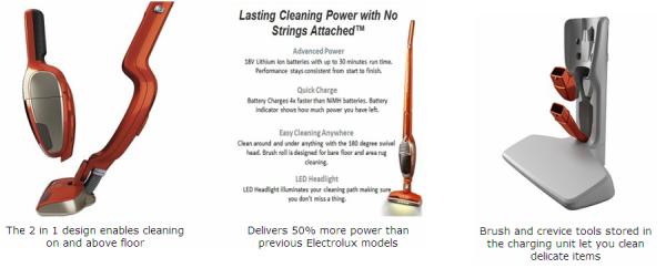 Electrolux Ergorapido Ion Stick and Hand Vacuum, EL1030A