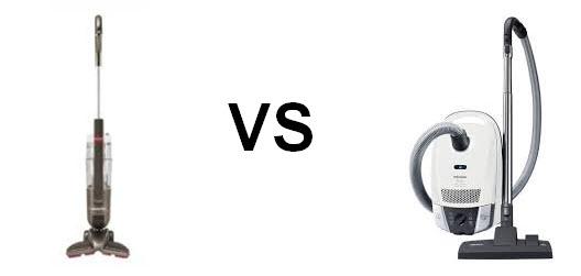 stick vacuum vs canister vacuum