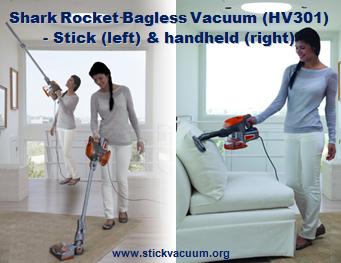 Shark Rocket Bagless Stick Vacuum HV301